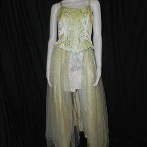 Light Sage Green Tulle Overskirt